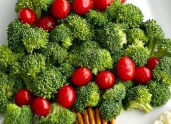 Pom de Crăciun din legume
