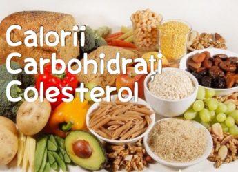 Caloriile, carbohidrații și colesterolul